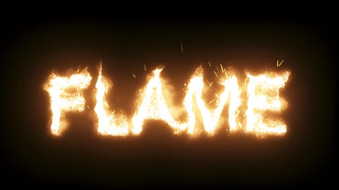 3d animated flaming, burning text - Flame - static Live Action