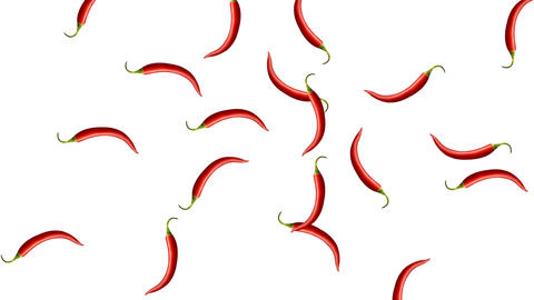 Minimal motion design Chili pepper animation Stock Video Footage