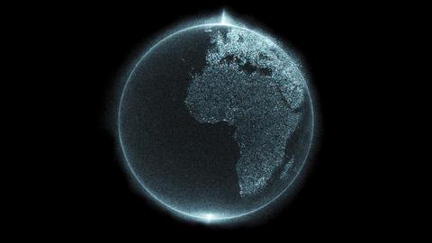 Digital data globe 3d animation - Europe, EU - zoom Footage