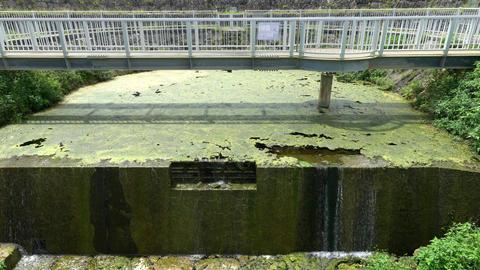 Miyako island, Japan-June 26, 2019: Cut Off Wall of Fukusato Underground Dam in Miyako island, Footage