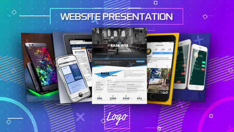 Website Presentation After Effects Template