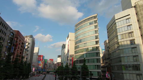 Japan city scenery. View the Kabukicho area from Nishi-Shinjuku Live Action
