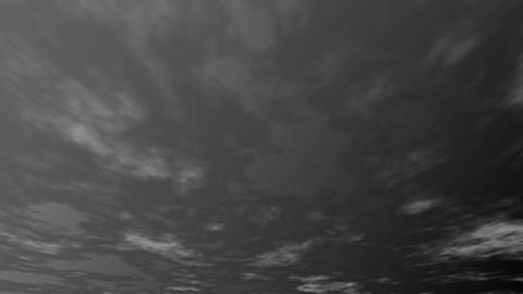 夜空と流れる雲 CG動画