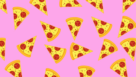 Abstract colorful pizza animation Animation