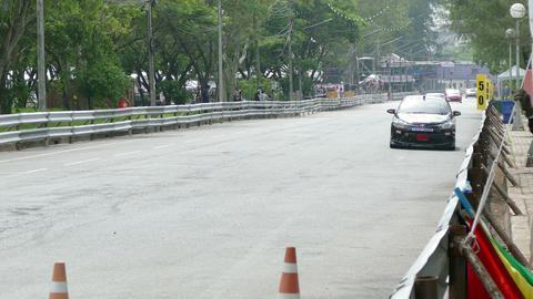 racing car beside the beach Footage