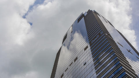 Corporate Buildings, Blue Sky And Clouds Footage