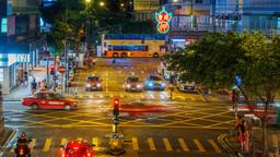 Street Traffic in Big City Footage