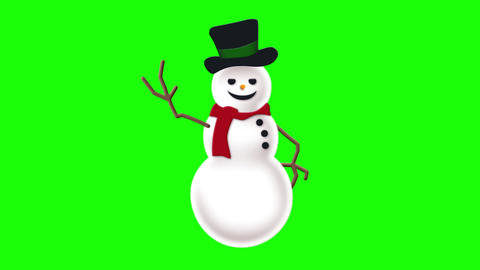 Snowman on green Live Action