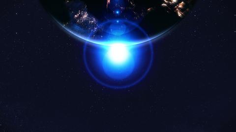 Night earth,Neon lighting,loop,position top Stock Video Footage