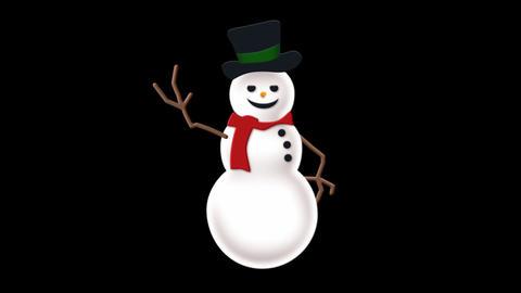 Snowman on Alpha Footage