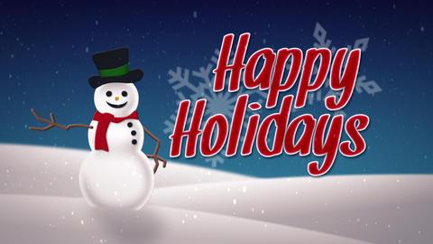Snowman on hill Animation
