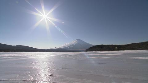 山中湖 冬3 Footage
