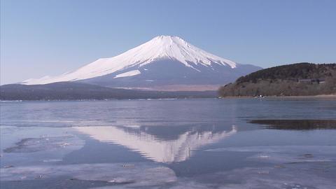 山中湖 氷06 Footage