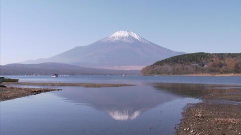 山中湖 逆さ富士02 Footage