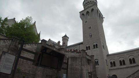 Schloss Neuschwanstein Tour Gate Stock Video Footage