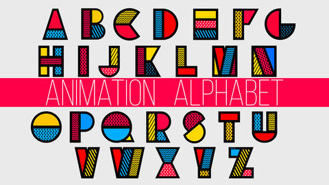 Animation Alphabet After Effects Template