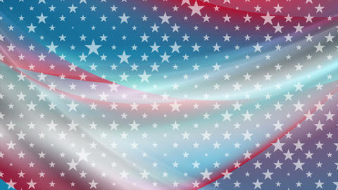 USA colors and stars abstract bright video animation Animation