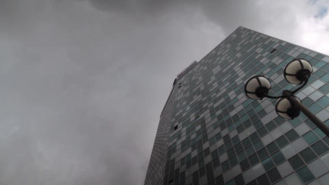 Glass office building.Modern building.Big city. modern exterior of the office Footage