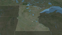 Minnesota - state of the United States. Satellite Animation