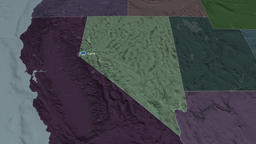 Nevada - state of the United States. Administrative Animation