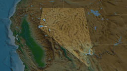 Nevada - state of the United States. Physical Animation