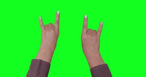 Hands At A Rock Concert. Horns Footage