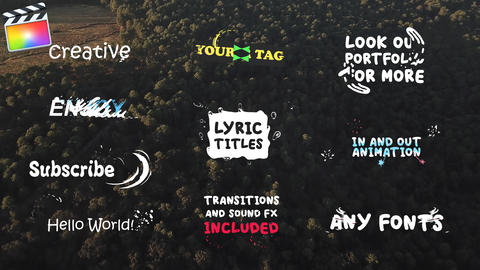 Lyric Titles Apple Motion Template