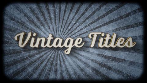 Vintage Titles Motion Graphics Template