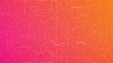 Slow High Tech Polygon Background With Gradient Animation
