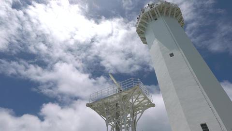 Miyako island, Japan-June 26, 2019: A lighthouse at Higashi Hennazaki in Miyako island, Okinawa Footage