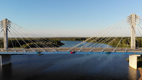 Flying along the Kirovsky transport bridge over the…, Live Action