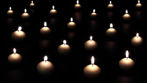 Candles Light Up And Disappear Footage