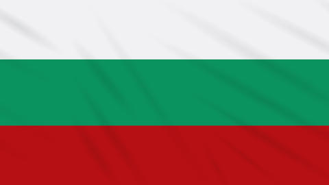 Bulgaria flag waving cloth background, loop Animation