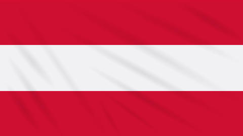 Austria flag waving cloth background, loop Animation