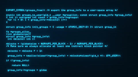 Blue Hacker Text Code on Screen Motion Graphic Background V2 Animation