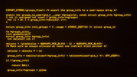 Yellow Hacker Text Code on Screen Motion Graphic Background V2 Animation