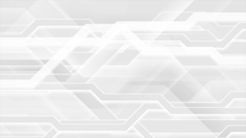 Grey white abstract hi-tech video animation Animation