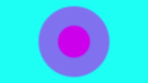円の広がるポップな背景素材 CG動画
