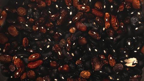 Soaking Black Beans In Water Before Cooking Footage