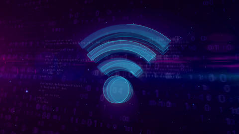 Wi-fi communication symbol concept Animation