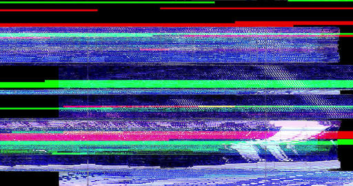abstract realistic screen glitch flickering, multicolor analog vintage TV signal with bad Footage