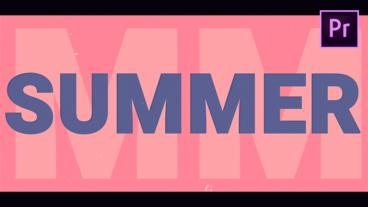 Summer Opener Motion Graphics Template