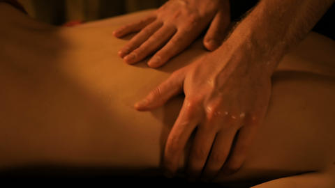Body massage and spa treatment in spa salon Footage