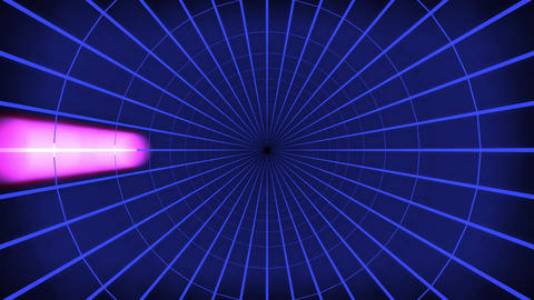 Blue Light Tunnel Loop Animation