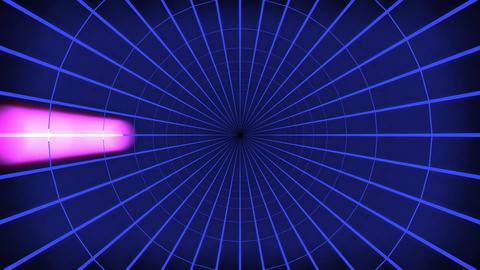 Blue Light Tunnel Loop Animation