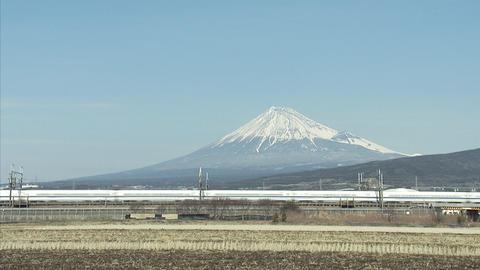 新幹線 田んぼ05 Footage