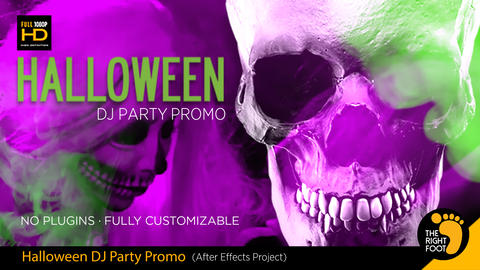 Halloween DJ Party Promo After Effectsテンプレート
