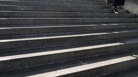 Water drips on a slippery staircase Footage