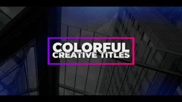 Colorful Creative Titles Premiere Pro Template