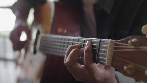 4K Close Up Hands Of Musician Playing Classical Music, Show Music Performance By Classic Guitar Live Action